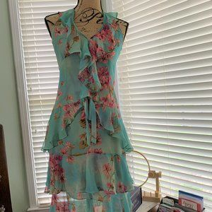 Tracy Reese Halter Neck Floral Dress Size 4